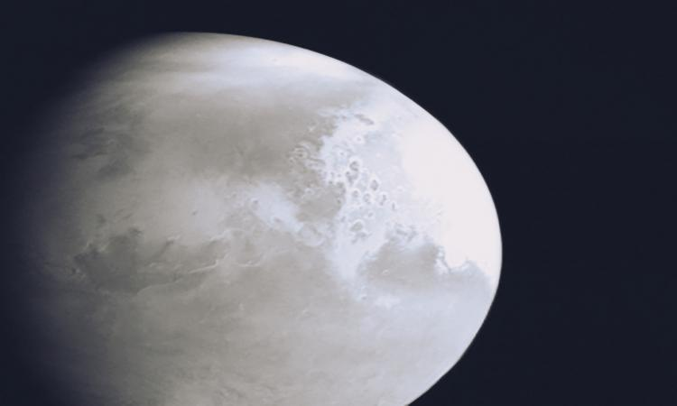 China's space probe captures first image of Mars. (credit : China National Space Administration)