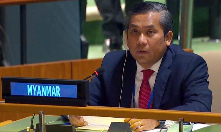 Myanmar envoy to UN sacked after anti-army speech