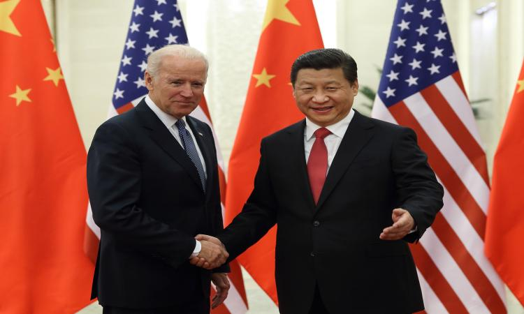 Joe Biden and Xi Jingping