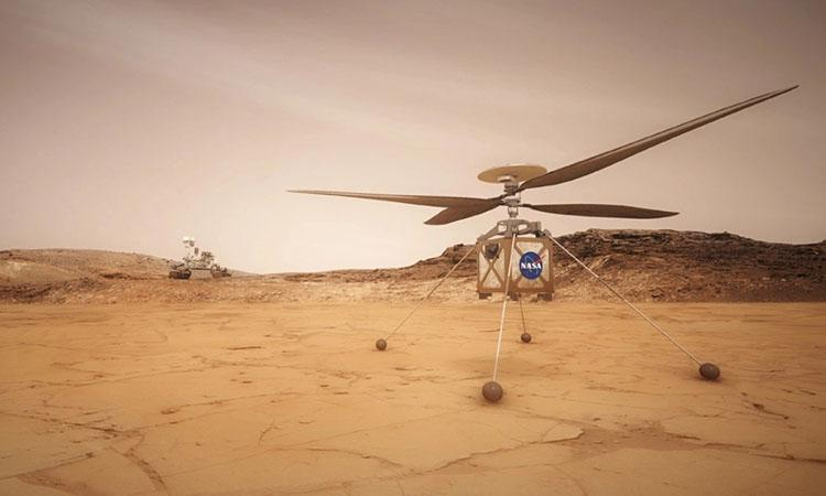 NASA, first flight of Mars helicopter
