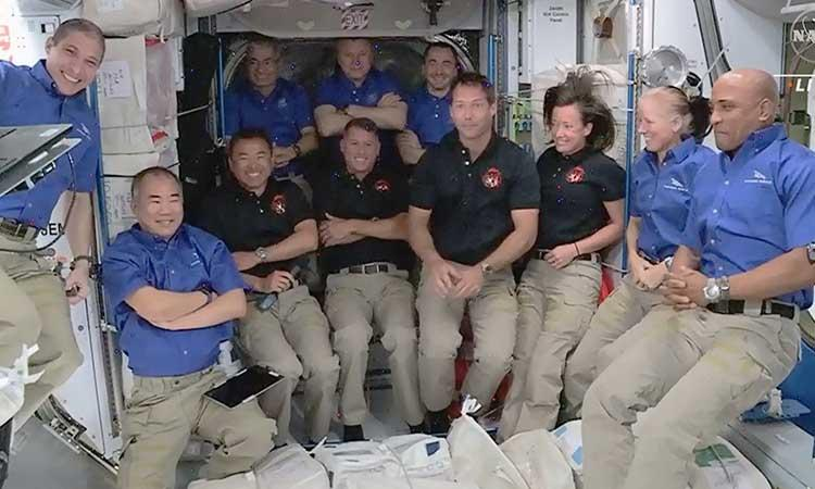 NASA-SpaceX-4 astronauts-Space station