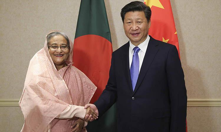 Xi Jinping-Bangladesh-Ceremony