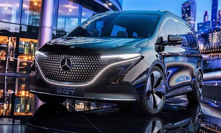 Mercedes Benz, EQT Gorgeous electric van, with sleek design ultimate comfort