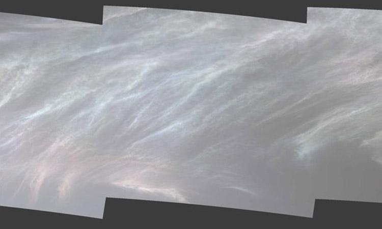 NASA, first flight of Mars helicopter, Mars helicopter, NASA's Mars Curiosity Rover snaps shining clouds on Red Planet