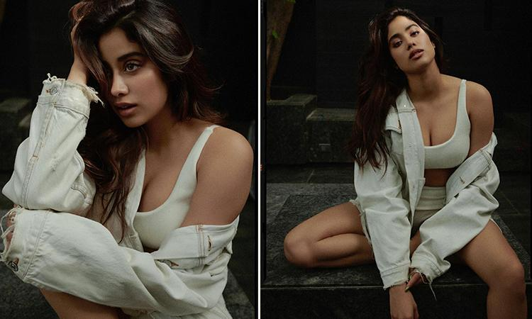 Janhvi Kapoor Latest pictures, Janhvi Kapoor Instagram pictures,Jahnvi Kapoor shares steamy pics in sports bra and shorts