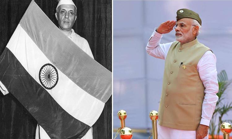 Jawaharlal-Nehru-Narendera-Modi